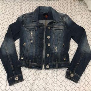 Guess Denim wash jacket in size Medium.